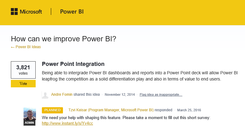 powerbi+powerpoint